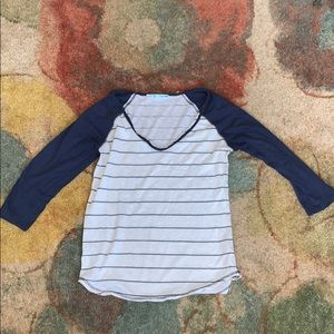 Maurice's Striped Raglan Tee